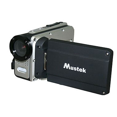 Mustek® HDV527W HD Waterproof Multifunctional Digital Video Camera, Black