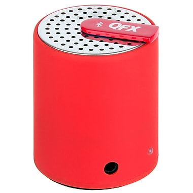 QFX CS27BT Portable Bluetooth Speaker With Aux-In, Red