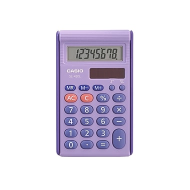 Casio® 8 Digits LCD Display Basic School Calculator