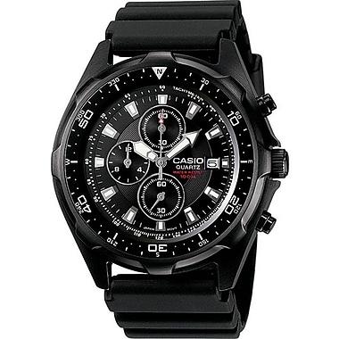 Casio® AMW330B-1AV Men's Analog Sports Chronograph Wrist Watch W/Rotating Bezel, Black