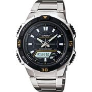 Casio® AQS800WD-1EV Men's Analog/Digital Tough Solar-powered Sports Chronograph Wrist Watch, Silver