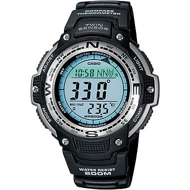 Casio® SGW100-1V Men's Digital Compass Twin Sensor Sport Wrist Watch W/Resin Band, Black
