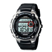 Casio® WV200A-1AV Men's Digital Waveceptor Atomic Chronograph Alarm Wrist Watch, Black