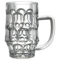 Felli Housewares 6 Pieces 24 oz. Qubie Beer Mug Set, Clear