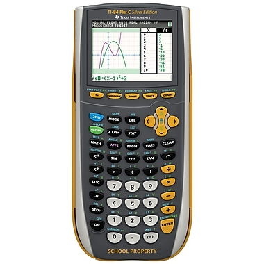 Texas Instruments TI-84 Plus C Silver Edition Graphing Calculator, Yellow/Silver