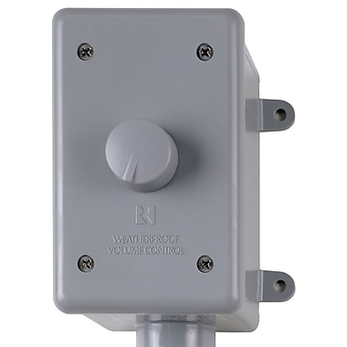 Russound® WALTx2 126W Weatherproof Volume Control, Gray