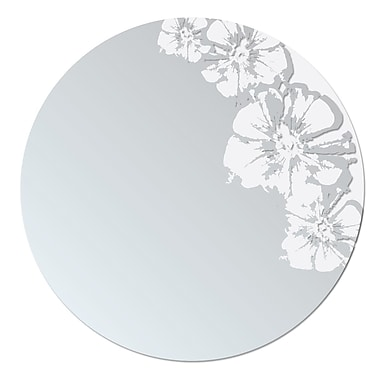 Nexxt Flaunt Frosted White Mirror, 24