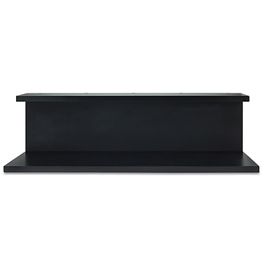 Nexxt Noto Tiered Wall Shelf with Chalkboard, Black