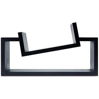 Nexxt Slant Wall Wood Shelf, Black