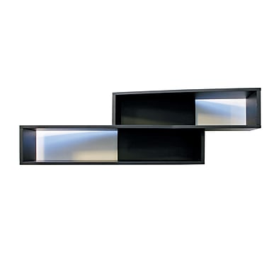 Nexxt Luca Angled Wall Shelf, Black