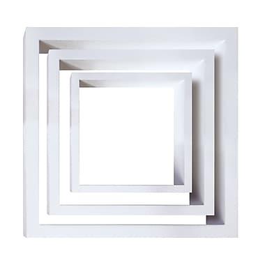 Nexxt –Tablettes murales Cubbi en bois, ensemble de 3, bois blanc