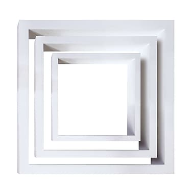 Nexxt Cubbi Wood Wall Shelves, Set of 3, White wood