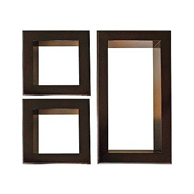 Nexxt Framed Cubbi Wood Wall shelves, Set of 3, Mahogany wood