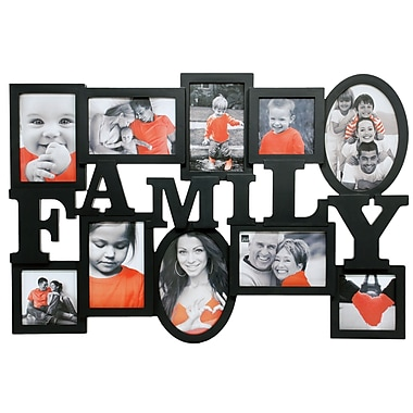 Nexxt Family Heritage 10 Picture Collage Frame, Black
