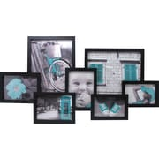 "Nexxt Lindo 7 Picture Collage Frame, 16"" x 29"", Black"