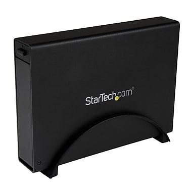 StarTech.com USB 3.0 Trayless External Hard Drive Enclosure with UASP, Black