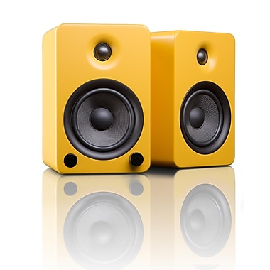 Kanto YU5MY Powered Bookshelf Speakers with Bluetooth™ Technology, Matte Yellow