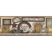 Inspired By Color™ Country & Lodge Inspirational Signs Border, Gold With Red Burgundy/Black
