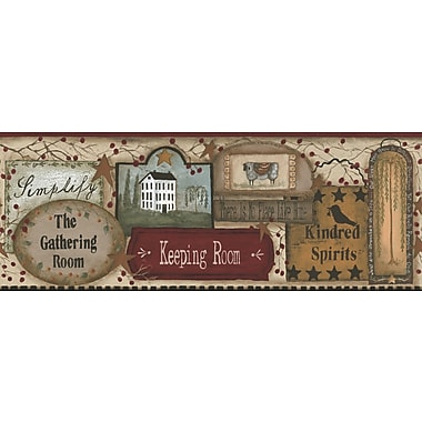 Inspired By Color™ Borders The Gathering Room Border, Tan With Burgundy