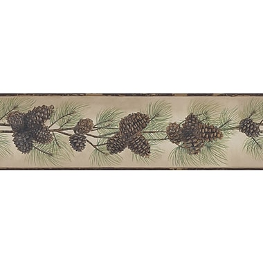Inspired By Color™ Country & Lodge Pine Cone Branch Border, Brown With Green