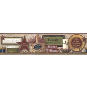 Inspired By Color™ Country & Lodge Friends and Family Shelf Border, Beige