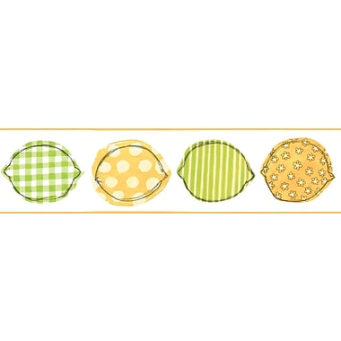 Inspired by Color™ Borders Lemon Border, Yellow With Green/White