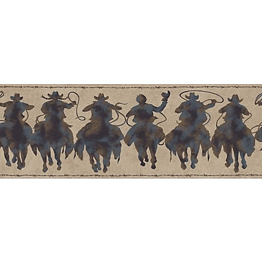 Inspired By Color™ Borders Silhouette Riders Border, Brown With Black