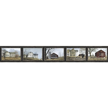 Inspired by Color™ Country & Lodge Framed Scenics Border, Black