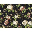 Inspired By Color™ Black & White Rhododendron Floral Wallpaper, Black With Off White/Beige/Green