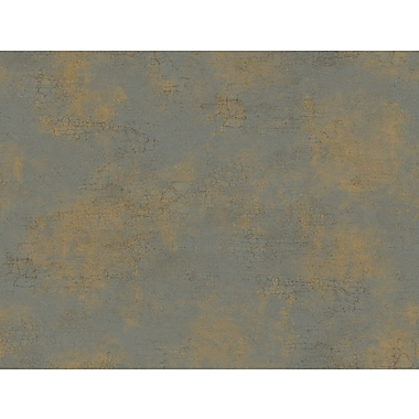 Inspired By Color™ Metallics Delia Damask Texture Wallpaper, Dark Gray With Bronze/Tan