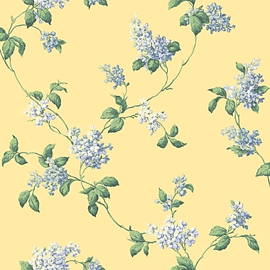 Inspired By Color™ Orange & Yellow Lilac Trail Wallpaper, Yellow With Blue