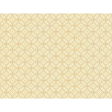 Inspired By Color™ Orange & Yellow Lacey Circle Geo Wallpaper, Yellow With Orange