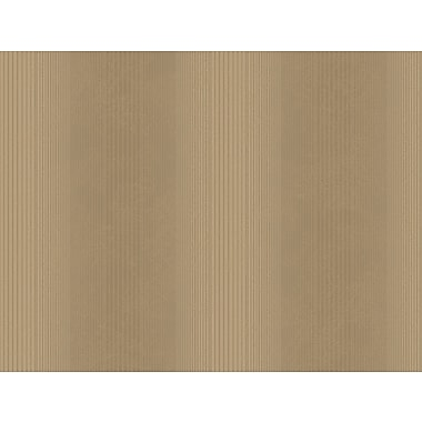 Inspired By Color™ Metallics Varigated Pinstripe Wallpaper, Deep Tan With Bronze