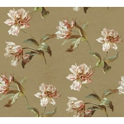 Inspired By Color™ Beige LG Parrot Tulip Wallpaper, Tan With Bronze/Green/Pink