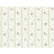 Inspired By Color™ Pink & Purple Floral Toss Stripe Wallpaper, Purple With Green