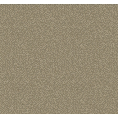 Inspired By Color™ Metallics Tracerie Wallpaper, Dark Taupe With Gold Flecks
