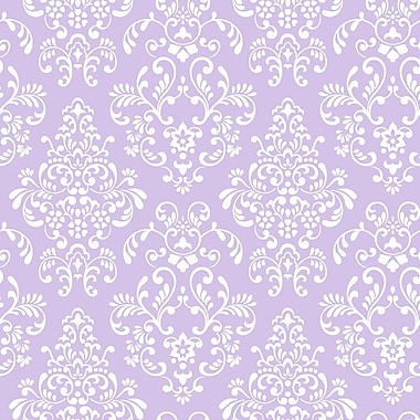 Inspired By Color™ Pink & Purple Delicate Document Damask Wallpaper, Purple