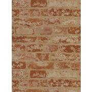 Inspired By Color™ Red Stuccoed Brick Wallpaper, Red With Off White/Beige/Red