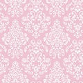 Inspired By Color™ Pink & Purple Delicate Document Damask Wallpapers