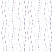 Inspired By Color™ Pink & Purple Dotty Stripe Wallpaper, White/Purple