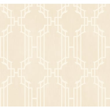 Inspired By Color™ Beige Trellis W/Strie Wallpaper, Light Tan With White