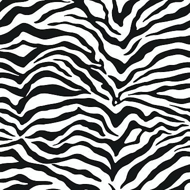 Inspired By Color™ Black & White Zebra Skin Wallpaper, White With Off White