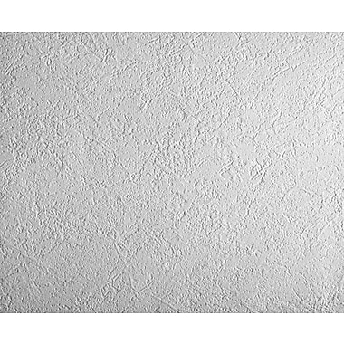 Inspired By Color™ Black & White Patent Decor Paintable Plaster Wallpaper, White