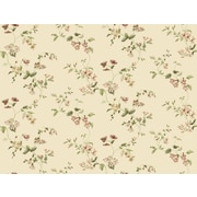 Inspired By Color™ Beige Wild Flower Trail Wallpaper, Cream With Green/Red