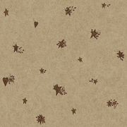 Inspired By Color™ Country & Lodge Tin Star and Heart Wallpaper, Beige/Red