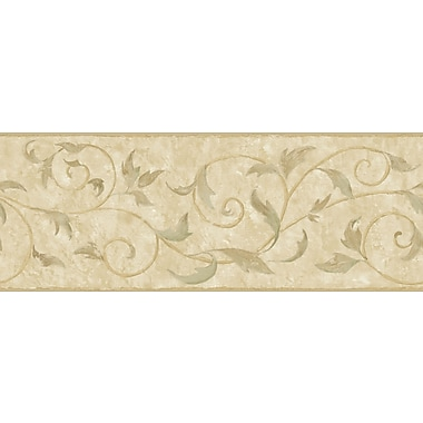 Inspired By Color™ Borders Vine Scroll Border, Tan With Beige/Brown/Green