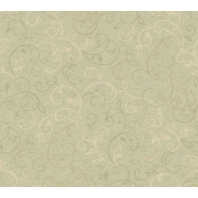 Inspired By Color™ Green Graphic Scroll Leaf Wallpaper, Green With Yellow