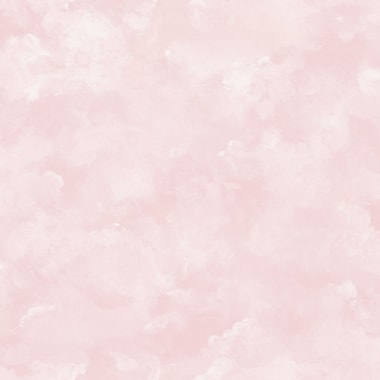 Inspired by Color™ Pink & Purple Atrium Clouds Wallpaper, Pink With White