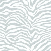 Inspired By Color™ Metallics Zebra Skin Wallpaper, White With Off White