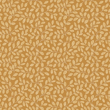 Inspired by Color™ Yellow & Orange Mini Vine Sidewall Wallpaper, Gold/Tan
